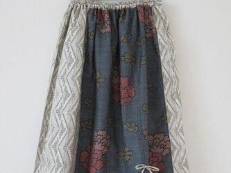 大島紬二種からのスカートの画像