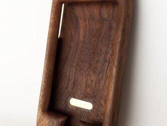 【受注制作】木製iPhoneケース(ウォルナット・フルカバー)の画像
