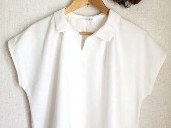 【ご予約商品】Wリネン 襟付きブラウスの画像