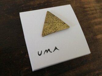 UMA 真鍮やまブローチ#4の画像