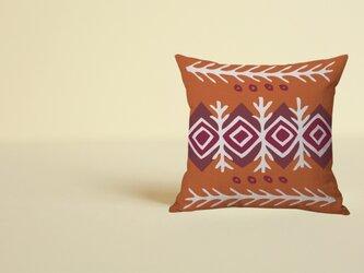 森のクッション Tribal pattern 01の画像