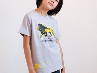 Lion T-shirt 130cmの画像