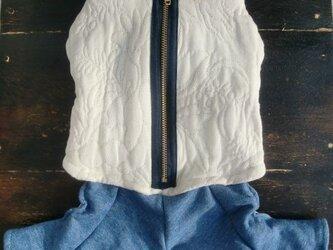 ジャンプスーツ ミルクホワイトの画像