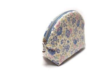 ラウンドポーチ LIBERTY Felicite - blue -の画像