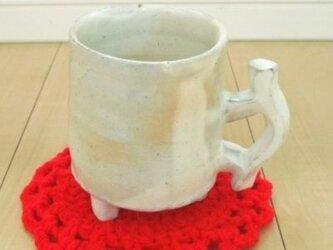粉引きマグカップ Hの画像