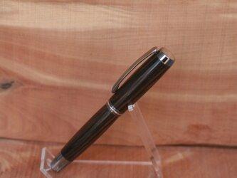 縞黒檀 万年筆 コンバータ併用タイプの画像