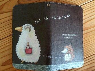 アンドロイドスマホ対応 手帳型ケース『羊とハリネズミ』の画像