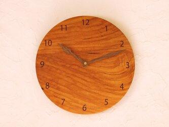 掛け時計 丸 ケンポナシ材①の画像