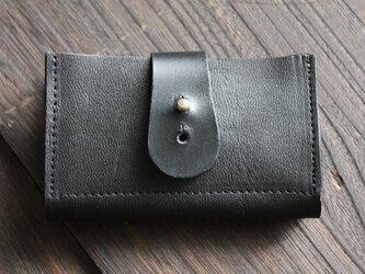 馬革カードケース  / BLACK(黒色)の画像