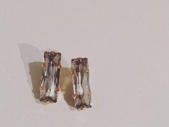 □Crystal(長方形クリスタルピアス)の画像