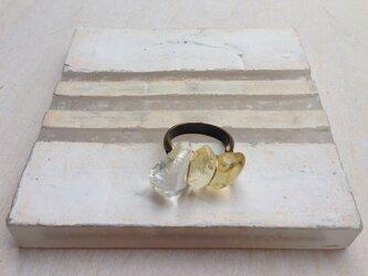 硝子の石ころ リングの画像