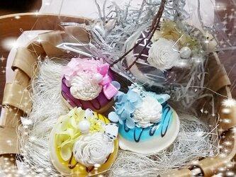 お花ドーナッツマグネットの画像