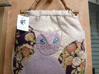 見返り美猫のバッグの画像