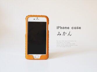 iPhoneXR 対応・ iPhone各種レザーケース(みかん)の画像