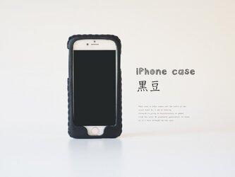 iPhoneXR 対応・iPhone各種レザーケース(黒豆)の画像