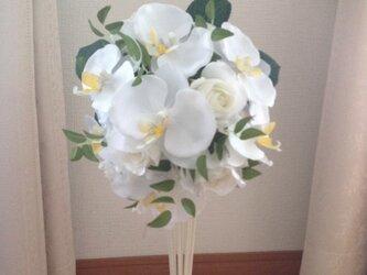 胡蝶蘭 薔薇 ブライダルブーケの画像
