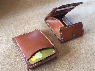カードとコインの財布Ⅱ CC-05 コインケース ヌメ革 赤茶の画像