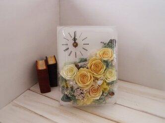 長方形flower時計(イエロー)の画像