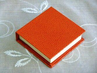 ポストイッツホルダー 石目 オレンジ色の画像