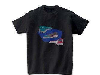 電車Tシャツ-E5E6はやぶさこまち(チャコールグレー)の画像