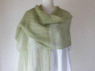 紗織りシルクストール(緑)の画像