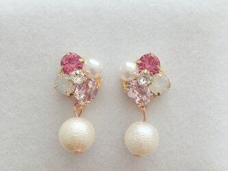 pinkbijou × cottonpearl ピアス イヤリングの画像