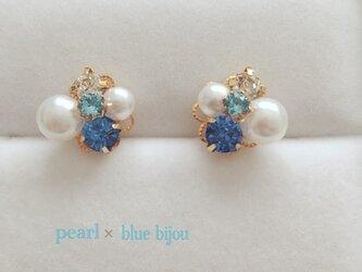 pearl × bluebijou ピアス イヤリングの画像