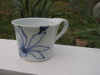 青いこぶし 珈琲カップ の画像