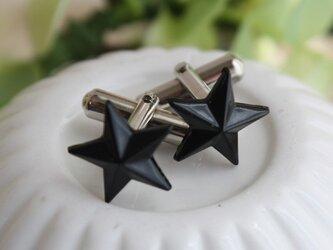 【送料無料】ブラックスター星カフス M-41の画像