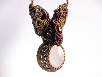 garnet × milky quartz / couronne de lapinの画像