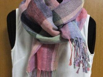 手織りリネンストール #3の画像