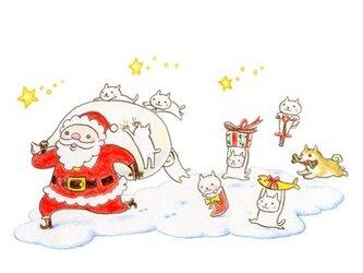 ねこさんポストカード 11月 12月(2枚セット)の画像