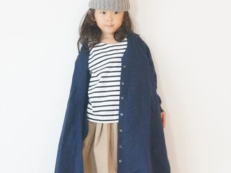 Linen chambray One-piece Court 90,100の画像