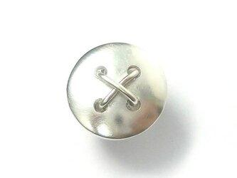 SALE!ボタンのシルバーピンブローチ サイズ大の画像