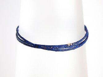 14KGF Lapis Lazuli Triple Braceletの画像