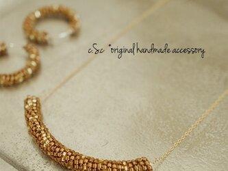 ≪glitter≫Brown goldネックレスの画像