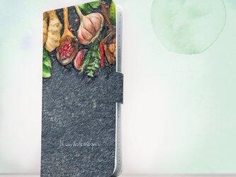 全機種対応 手帳型 スマホケース iPhoneXs iPhone9 iPhoneXs Maxおしゃれ キッチンの香辛料の画像