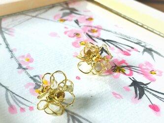 【noilmok】weeping cherry~枝垂れ桜のピアス~の画像