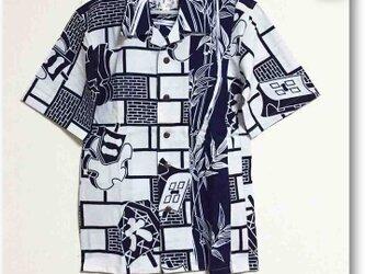 試作サンプル 纏柄浴衣リメイクアロハシャツ2(メンズ)の画像
