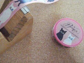 マスキングテープ <ネコ・ピンク>の画像