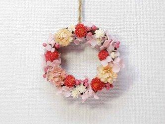 ふんわり可愛い♡ピンクのミニリース♪  No.3の画像