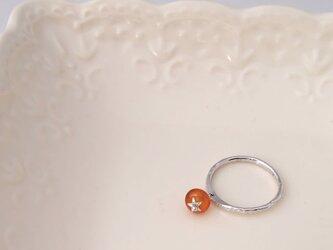 一粒トマトの指輪 1点のみ 可動タイプ 11.5号 カーネリアンの画像