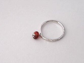 一粒トマトの指輪 完熟 可動タイプ カーネリアン SV925【受注生産】の画像