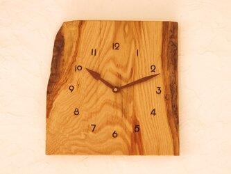 掛け時計 栗材⑦の画像