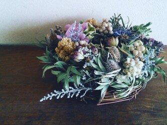 野花の花束リースの画像