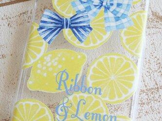リボンとレモンのiPhoneケースの画像