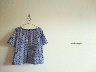 浴衣生地の胸ポッケTシャツの画像