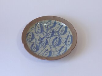 輪花皿(呉州つる花紋絵)の画像
