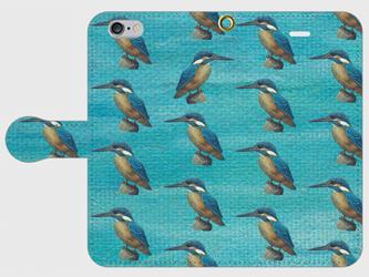 カワセミ 手帳型スマホケース iPhone6/6sの画像