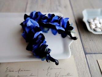 バナナクリップ■紫陽花の花びら■ダークブルー×ブルー(2色混合)の画像